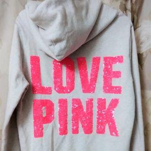 *Victoria Secret LOVE PINK Dog Hoodie Zip Up M